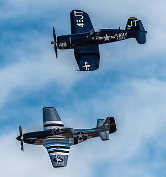 Corsair and Mustang by Mike Watts