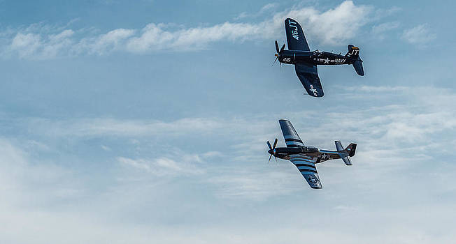 Corsair and Mustang together by Mike Watts