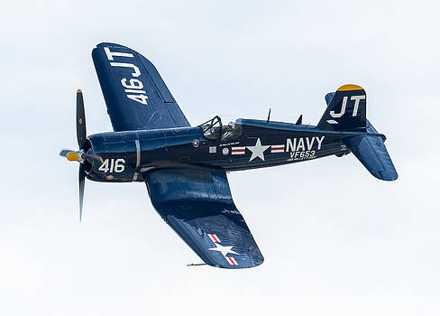 Corsair Fly By by Mike Watts