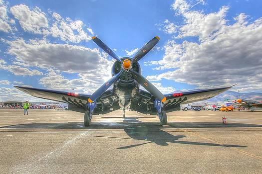 John King - Corsair on the Flight Line at Reno Air Races
