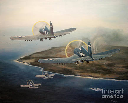 Corsairs Over Iwo by Stephen Roberson