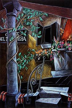 Arte Venezia - CoRte Del TAgLiaPieTRa - Venise Dessin Crayon de Couleur