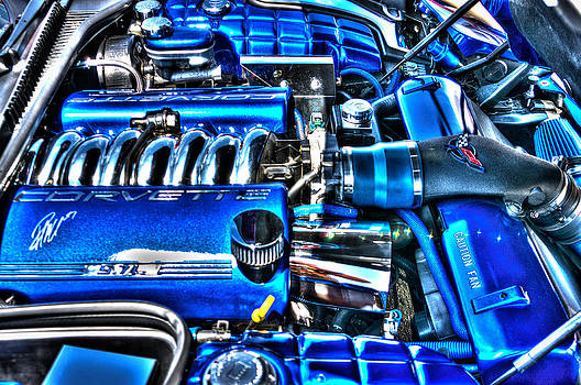Corvette in Blue by George Strohl