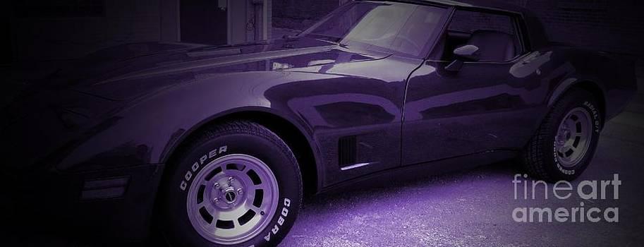 Corvette on Metal by Jackie Bodnar