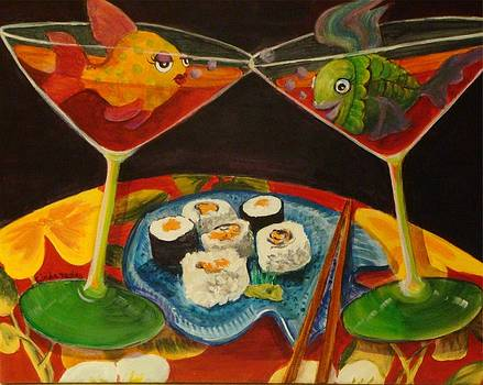 Cosmos and Sushi III by Linda Kegley