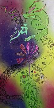 Cosmos of the heart shakra by Sr Clover Lopez Rubio