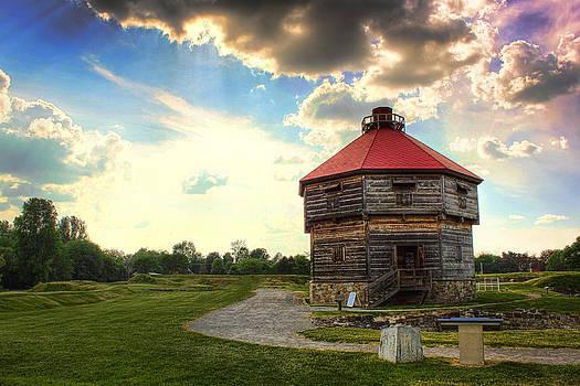 Coteau du Lac Quebec Fort by Pamela Lecavalier