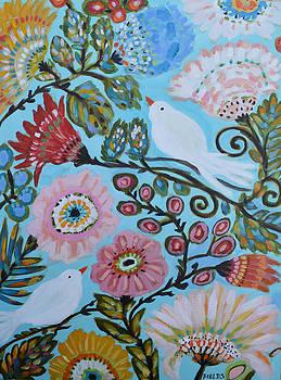 Cottage Bird Garden by Karen Fields
