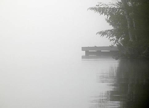 Cottage Dock - A Misty Morning on Lake Joseph. Muskokas by Rob Huntley