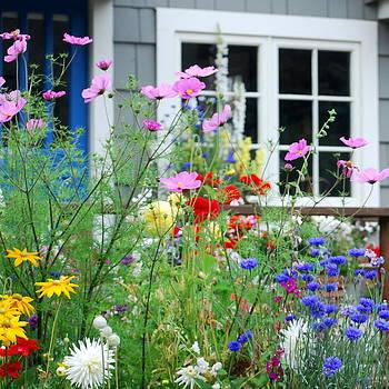 Cottage Garden by Mamie Gunning