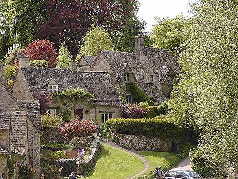 Cottages in Bibury by Fred Whalley
