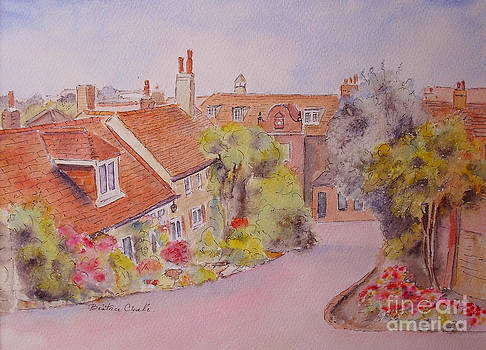 cottages near the church Hythe by Beatrice Cloake
