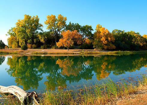 Cottonmill Lake in Fall 2 by Kerri Garrison