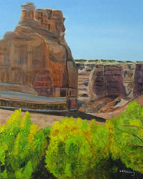 Cottonwoods at Arches by Linda Feinberg