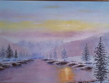 Coucher de soleil sur le lac by Jessica Fleurentin