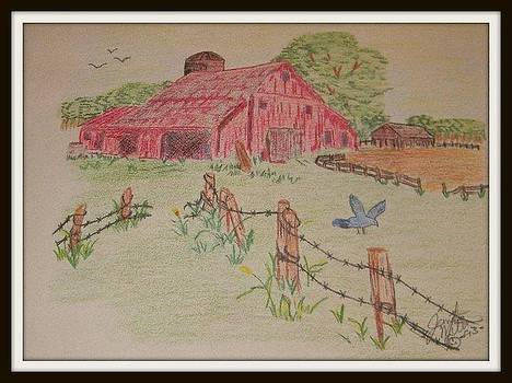 Country Barn by Janet Moss