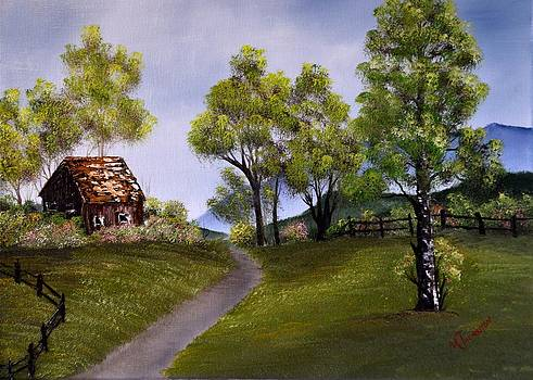 Country Cabin by Marsha Thornton