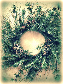 Country Christmas Wreath by Michelle Frizzell-Thompson