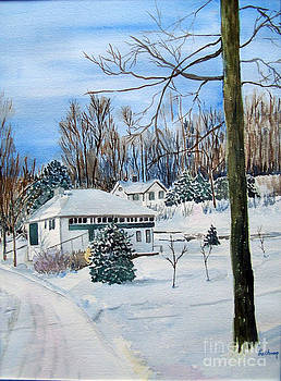 Country Club in Winter by Christine Lathrop