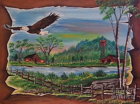 Country Eagle by Maggie  Welker