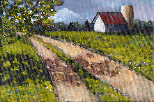 Joyce Geleynse - Country Lane with White Barn