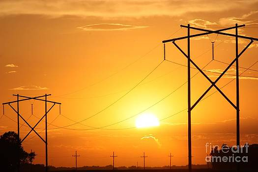 Country Powerline's by Robert D  Brozek