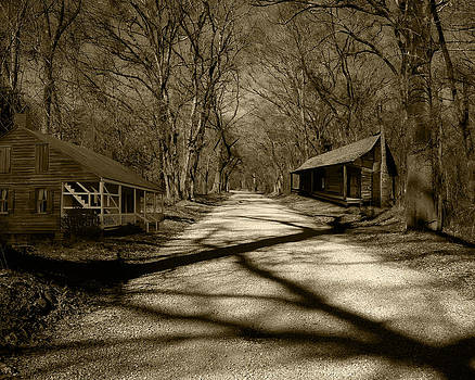 Country Road in Sepia by Cecil Fuselier