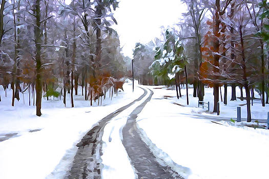 Charlie and Norma Brock - Country Road in Winter