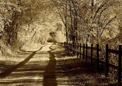 Anne Barkley - Country Road Sepia Tone