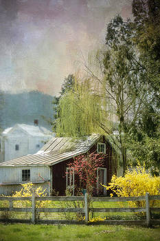 Country Spring Cottage by Kathy Jennings