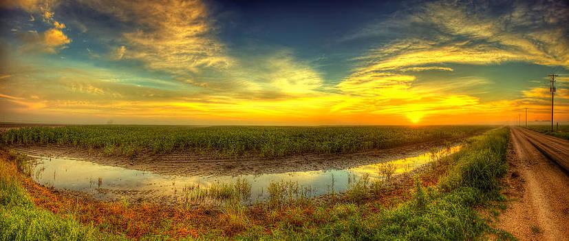 Country sunrise panorama by  Caleb McGinn