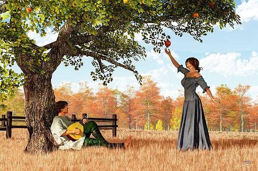 Daniel Eskridge - Couple at the Apple Tree