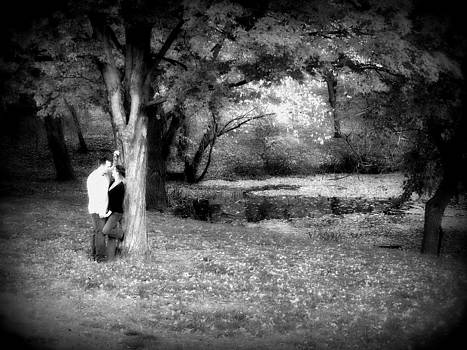 Couple By Lake by SW Johnson