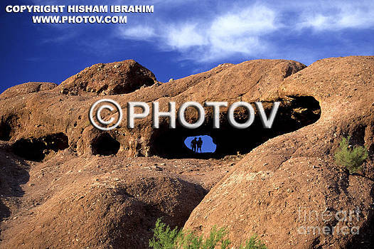 Couple hiking in Papago Park - Phoenix - Arizona - Limited Edition by Hisham Ibrahim