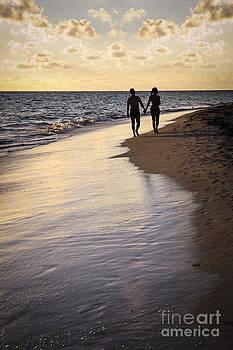 Elena Elisseeva - Couple walking on a beach