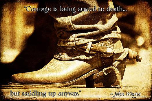Courage via John Wayne by Lincoln Rogers