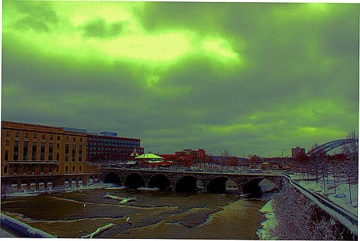 Court Street Bridge Rochester NY by Gerald Salamone