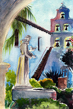 Courtyard Mission San Diego by Alice Picado