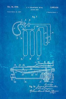 Ian Monk - Cousteau Diving Unit Patent Art 1949 Blueprint