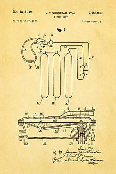 Ian Monk - Cousteau Diving Unit Patent Art 1949