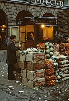 Covent Garden Market London UK 1973 by David Davies