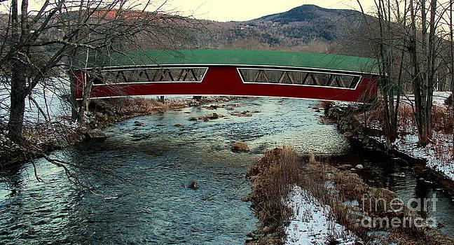 Covered Bridge in Winter by Ellen Ryan