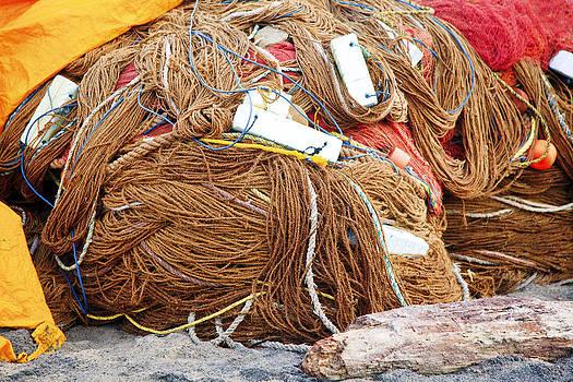 Kantilal Patel - Covered fishing nets under tarpaulin