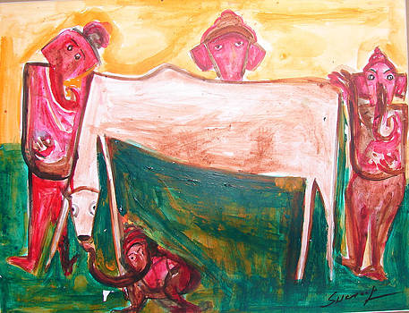 Anand Swaroop Manchiraju - COW AND GANSHA-A10