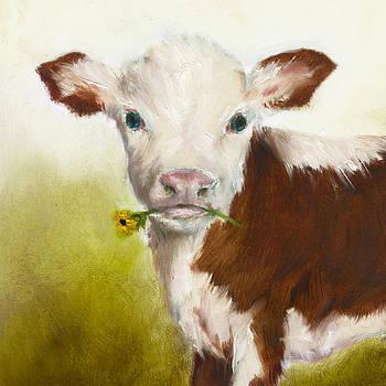 Cow Art Print by Junko Van Norman