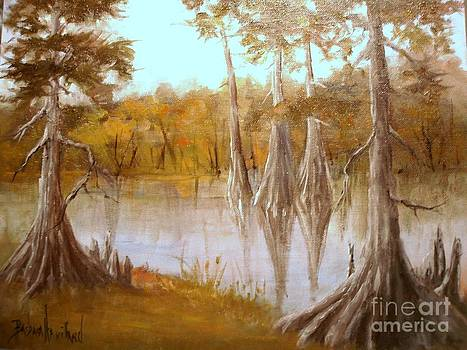 Cow Bayou Cypress Trees by Barbara Haviland