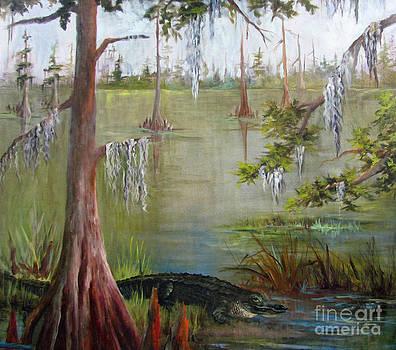 Cow Bayou Gator by Barbara Haviland by Barbara Haviland