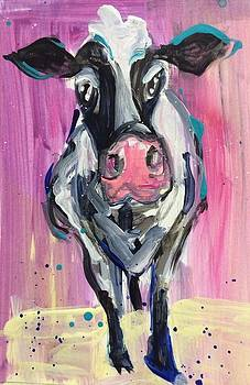 Cow with Purple by Mary Gallagher-Stout