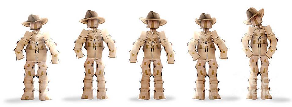 Simon Bratt Photography LRPS - Cowboy boxmen characters on white