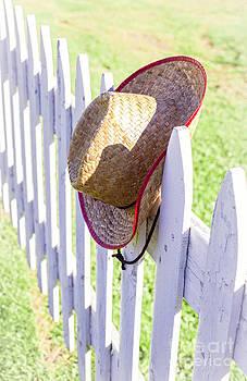 Edward Fielding - Cowboy Hat On Picket Fence